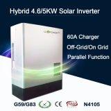 Invertitore ibrido a energia solare di memoria 4.6kw/5kw per residenziale