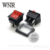 Resistente al agua Wnre Micro Pulsador eléctrico, el interruptor basculante