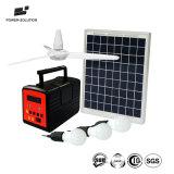 10W de luz LED generador solar el Sistema de iluminación solar con ventilador opcional