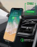 Автомобильный держатель подставка для беспроводной связи стандарта Qi зарядное устройство для мобильных аксессуаров аксессуары для телефонов