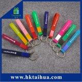 Porta-chaves personalizadas pulseiras, Silicone Chaveiro, Chaveiro de silício