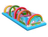 Внутри надувной плавающий курс препятствия для детей