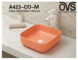 Tendenz-niedriger Preis-Quadrat-orange buntes Wäsche-Bassin-Schrank-Bassin