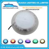 LED de isolados de resina de PC Piscina debaixo de luz com tela plana fosca