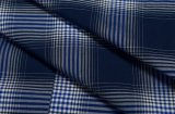 Het lange van Katoenen van het Kledingstuk van de Mensen van de Koker Trendy Overhemd Mens van de Plaid