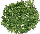 Белизна и зеленый цвет хлопьев лук-порея