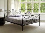 고품질 꽃 금속 2인용 침대 (OL17133)