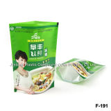 Muti-Layered Laminated Zipper Stand up Pouch, Granola Food Packaging Bag