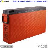 migliore batteria terminale anteriore del gel di 12V 55ah per la ferrovia, telecomunicazione, UPS