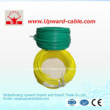 Fil électrique simple de pouvoir isolé par PVC d'en cuivre