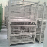 El cinc /Powder cubrió jaulas plegables rectángulo del almacenaje de Cago del acoplamiento de alambre