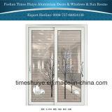 Конструкции и цветы раздвижной двери дешевого цены Китая алюминиевые