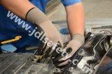 Сформируйте перчатку работы латекса с связанным запястьем руки (LCS3019B) (ОДОБРЕННЫЙ CE)