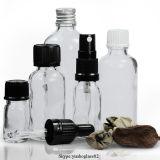 Botella de cristal 10ml del cuentagotas del petróleo esencial del claro de la fuente de la fábrica