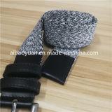 Cinghia anelastica di colore del tessuto del nastro di tela grigio della cinghia