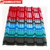 El panel de acero galvanizado cubierto color del material para techos de Camelsteel