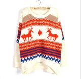 Suéter hecho punto divertido unisex de la Navidad del suéter de la novedad del telar jacquar para la venta al por mayor