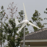 Pequeño blanco del generador 12V /24V 100W del molino de viento (SHJ-100S)