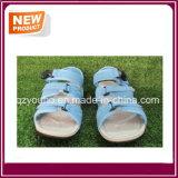 Голубые сандалии пляжа цветов для сбывания