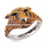 Forma de tigre amarillo de aleación de Estrás Bangle, bisutería, pulseras de encanto encanto Ecológico para hombres Pulsera hombre Pulsera (PB-065)