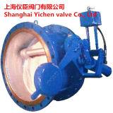 Válvula de retenção de esgoto operada por piloto hidráulico inclinável
