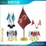 Polyester personnalisé de l'économie Mini drapeau de table en plastique (B-NF09P04008)