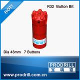 64 мм/76 мм/89 мм/102мм резьбу кнопку биты для бурения на стенде