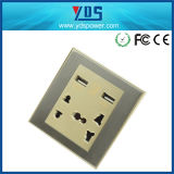 5V 2.1A는 벽면 소켓 16AMP 소켓 유니버설을%s 가진 USB 이중으로 한다