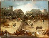 Оптовая картина маслом украшения высокого качества, домашняя картина украшения, картина искусствоа (Bullfight)