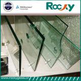 Vidro Tempered desobstruído rochoso da fábrica 12mm de China para o vidro do edifício com ISO de Ce&