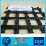 Enveloppé biaxes filés de polyester PVC géogrille de renfort