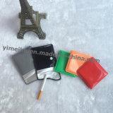 O PVC/EVA Botão portátil de bolso Quadrado Cigarro Cinzeiro Design de logotipo personalizado para Dom