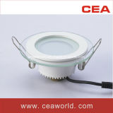 6W Downlight LED de vidrio redonda