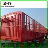 3 árboles acoplado del carro del cargo de la cerca del transporte de 60 toneladas