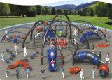 Kaiqiスパイダーマン機能および子供Playsets (KQ60137A)が付いている屋外の上昇システム演劇
