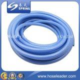 Da fibra plástica da mangueira da água azul do PVC mangueira de jardim trançada