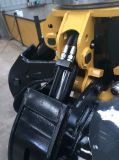 A casca alaranjada da máquina escavadora luta a garra de giro hidráulica de 5 dentes