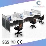Stazione di lavoro diritta del cubicolo moderno con 6 sedi della persona