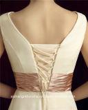 De Chiffon van vrouwen plooit Sleeveless Elegante Korte Kleding van het Bruidsmeisje van de Partij van de Avond