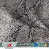 Couro artificial do PVC do teste padrão novo da serpente 2017 para o saco, sapatas, sofá