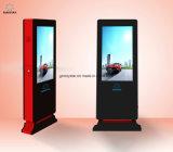 지면 서 있는 통신망 디지털 광고. 전시 LED 옥외 광고 스크린