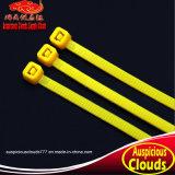노란 색깔 자동 폐쇄 나일론 케이블 동점
