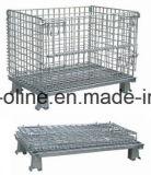 Cestino di collegare/contenitore piegato accatastabile della rete metallica