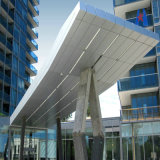 Revestimento de parede em alumínio recomendada do projeto Folhas