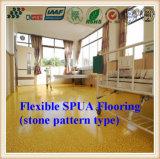 Abrasión y flexible antideslizante SPUA Pisos con Stone Tipo de patrón