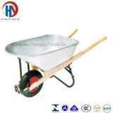 Wheelbarrow grande com a bandeja de madeira do punho e do metal (WH5400)