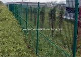 그려진 Green 및 Galvanized T Posts Peach Post 3D Wire Mesh Model