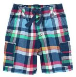 Kid's Pants Pantalon plaid écossais de la marine de l'été Shorts