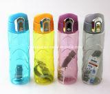 Bunte Plastiksport-Trinkwasser-Flasche mit Verschluss
