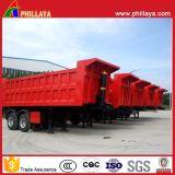 Hydraulique semi-remorque de camion à benne basculante 2essieux 35cbm Dump semi-remorque